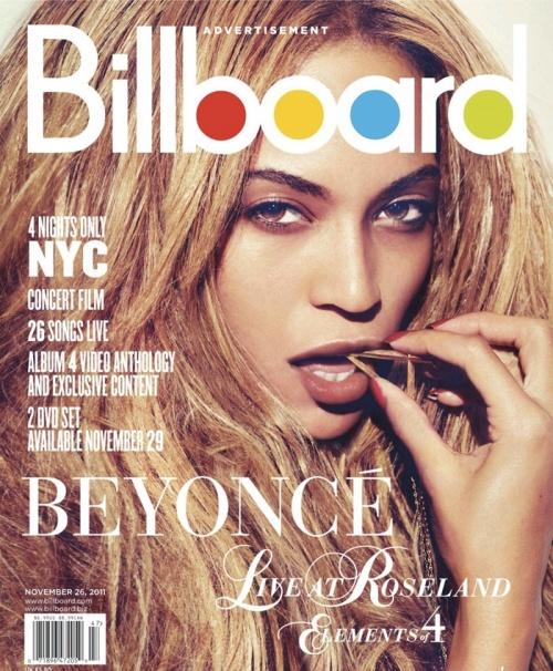 Beyonce fait la couverture du magazine BillBoard