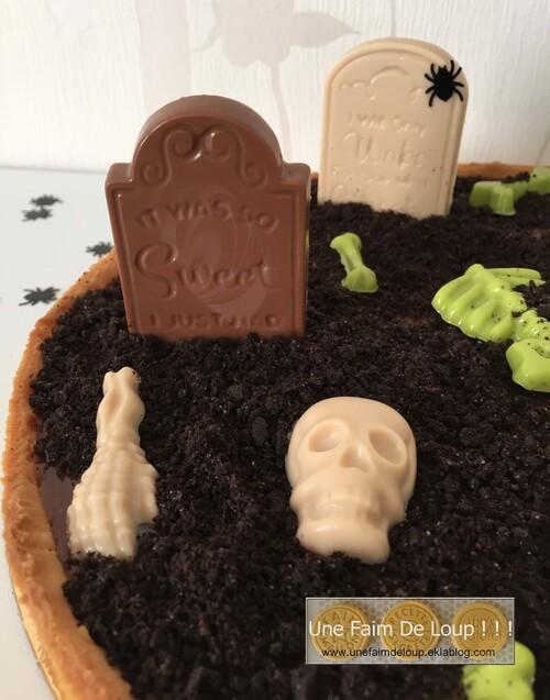 Tarte cimetière d'halloween
