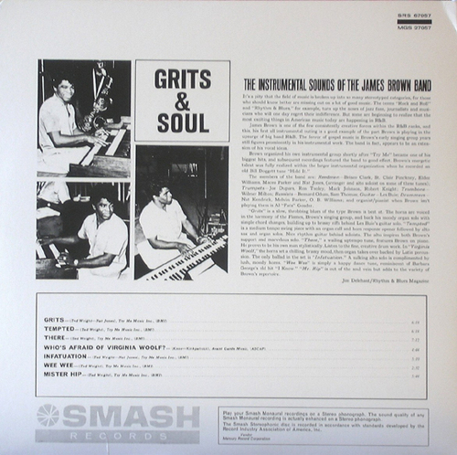 "1964 James Brown Album "" Grits & Soul "" Smash Records SRS-67057 [ US ]"