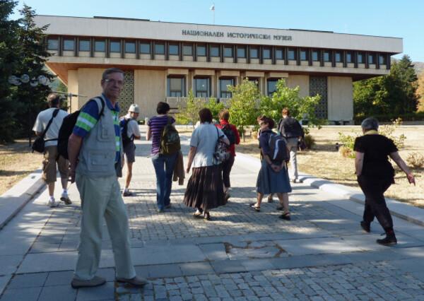 Jour 2 - Philippe devant le Musée de l'Histoire