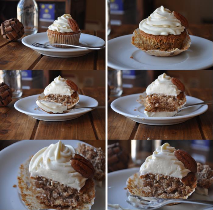 Cupcakes au sirop d'érable et noix de pécan