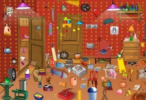 Hidden objects - Messy room