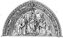 Enluminure du portail de l'église Saint-Jacques-de-la-Boucherie.