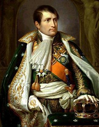 c est une image de napoleon bonaparte sur le trone
