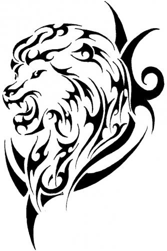 Lion Tribal Tattoo Flashes