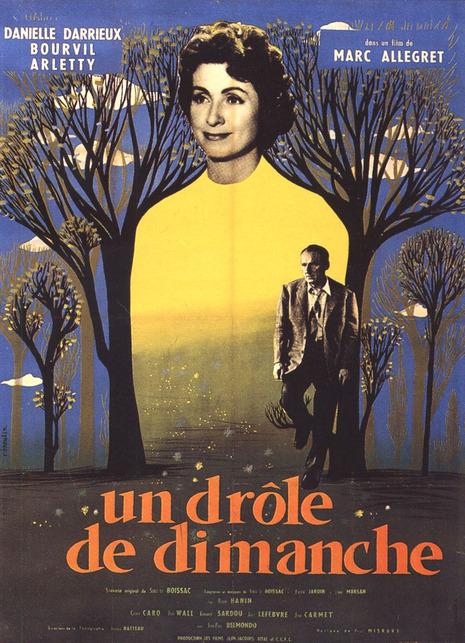 UN DROLE DE DIMANCHE - BOURVIL BOX OFFICE 1958