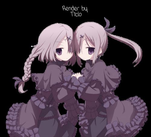 Render 8 - Manga girls