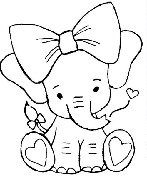 jolie éléphanteaux et son nœud