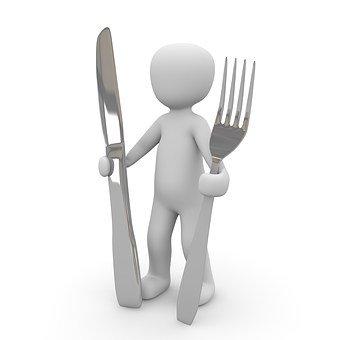 Manger, Fourche, Couteau, Bon, Appétit