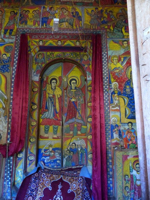 l'église orthodoxe Batra Maryam; les peintures intérieures;