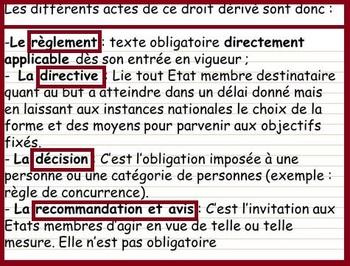 Directive, règlement... : les actes unilatéraux du droit dérivé de l'UE