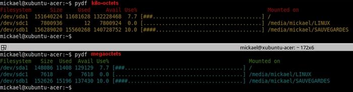 Analyser l'espace disque avec PYDF