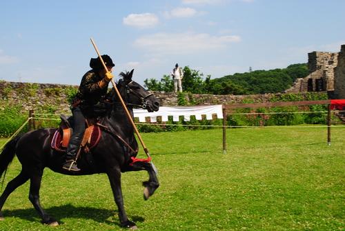 Le cheval noir!
