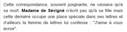 **  Mesdames de SEVIGNE & de GRIGNAN.- Suite & Fin**