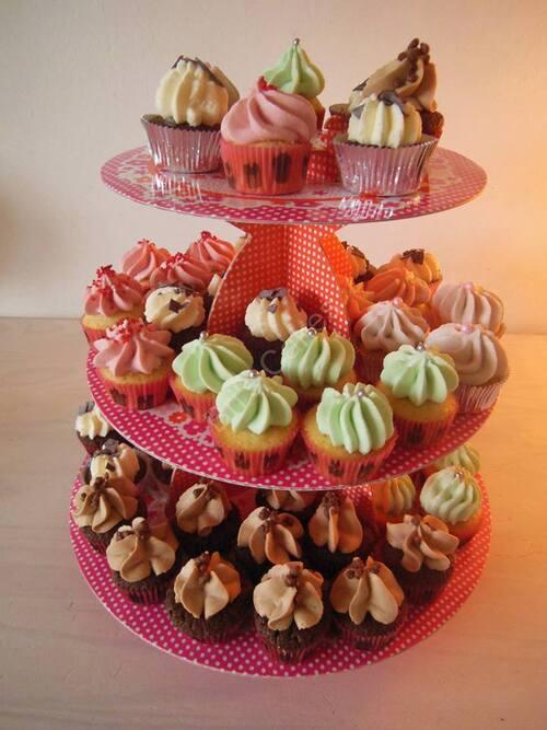"""""""testage"""" de parfums : mini cupcakes Carambar, Pistache, Cerise, Myrtille et Forêt Noire.."""