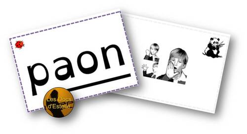 Flashcards de syllabes avec gestes Borel Maisonny