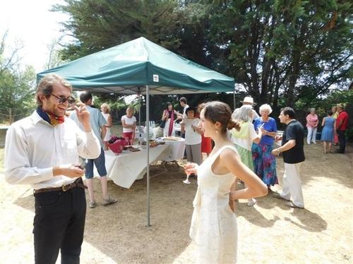 Et le  12 07 15 on a fêté à l'Orelle les jeunes mariés Erik et Fiorella