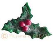 broche boutonnière feuille de houx, Noël, arbres, nature - Arts et sculpture: sculpteurs, artisans d'art