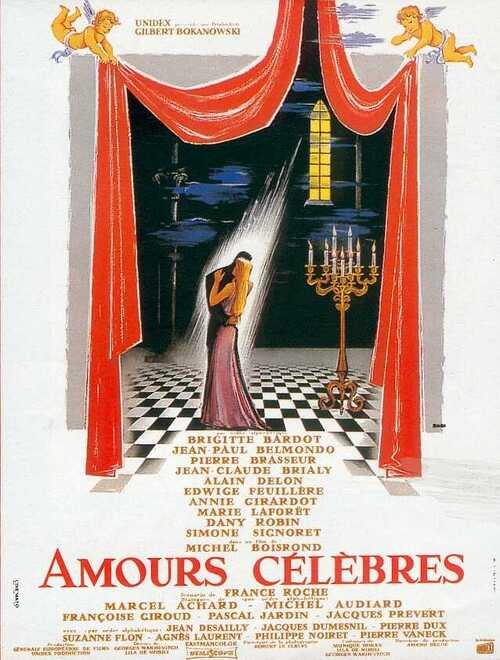 AMOURS CELEBRES - BOX OFFICE JEAN-PAUL BELMONDO1961
