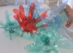 Fleur en bouteille plastique
