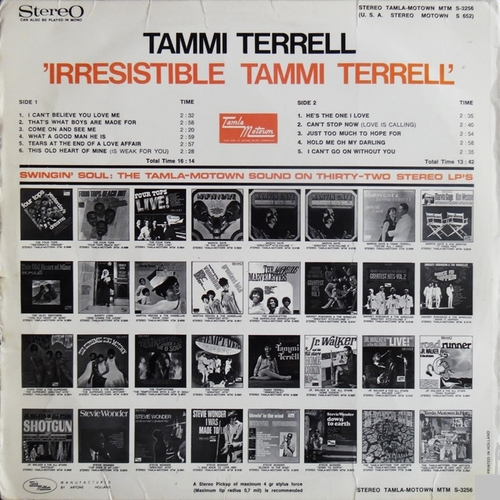 "Tammi Terrell : Album "" Irresistible "" Motown Records MS 652 [ US ]"