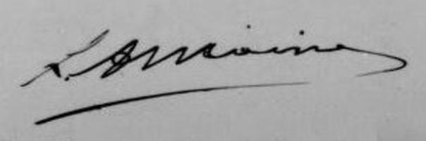 signature de Louis Antoine (Acte décès fils Antoine (in Actes naissance 1894)(search.arch.be))