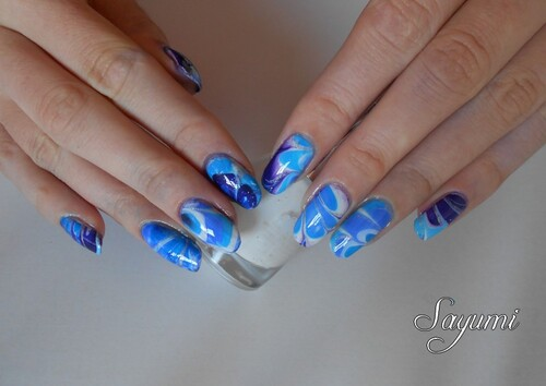 Nail Art Water Marble polaire