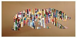 Silhouette en bandes de papier