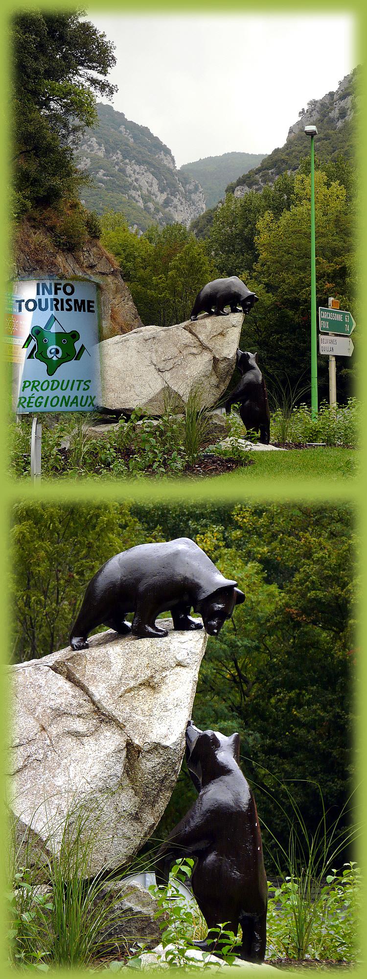 L'Aude, l'autre pays des Pyrénées et des ours: Rond-point des Ours à Axat - 11