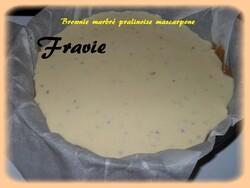 Brownie marbré pralinoise / mascarpone