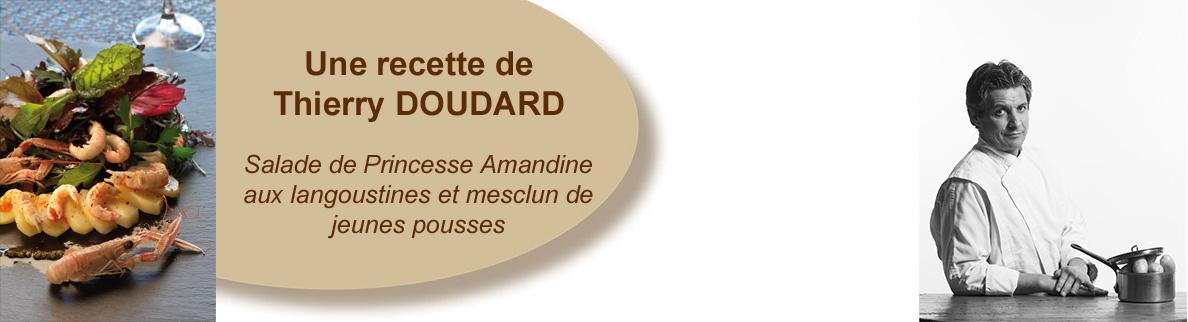 Salade de Princesse Amandine aux langoustines et mesclun de jeunes pousses