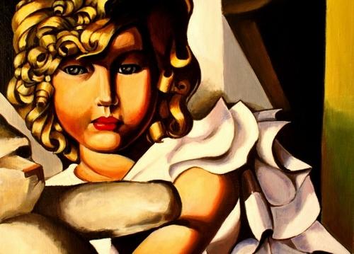 """extrait d une de mes toile """"reproduction T de Lempicka"""""""