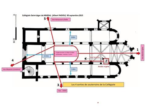 Les emplacements des souterrains et crypte de la Collégiale, le 30 septembre 2015.(Albert Fagioli)