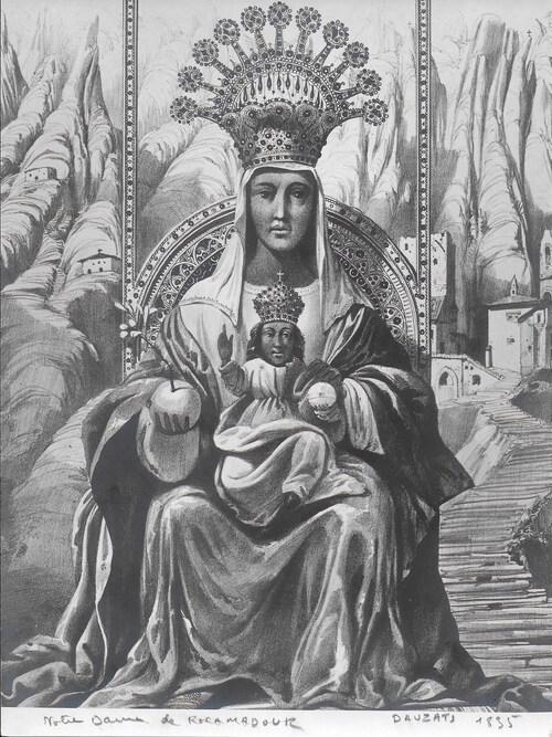 Représentation de Notre Dame de Rocamadour