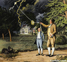 Expérience sur la foudre - Benjamin Franklin