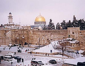 OLD JERUSALEM-Snow January 2008