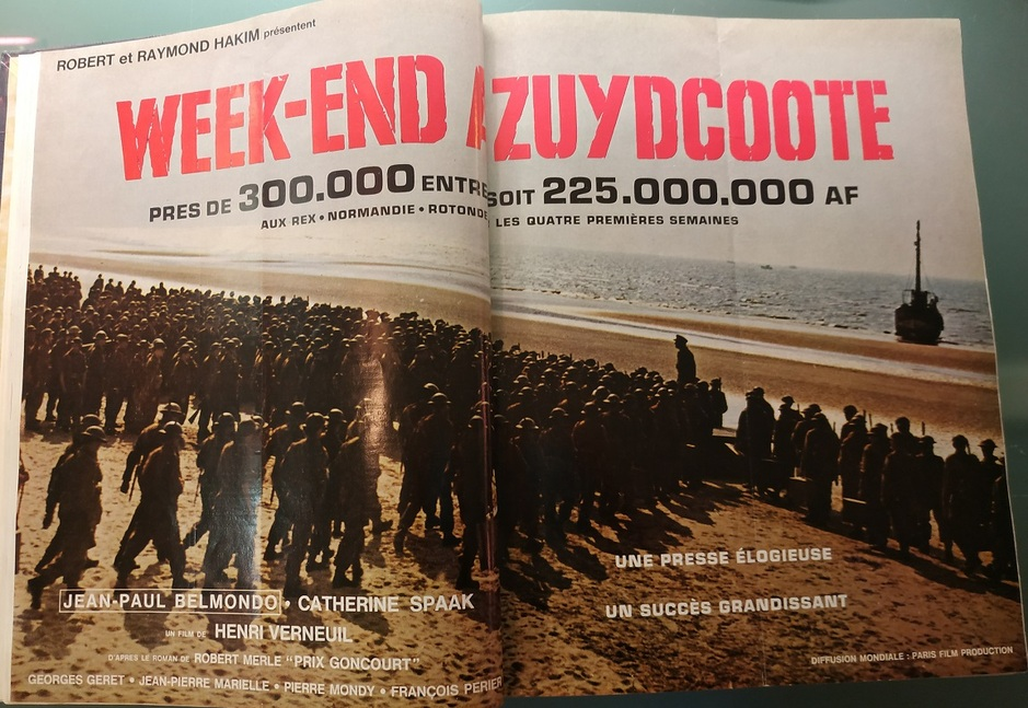 week end a zuydcoote box office france 1964