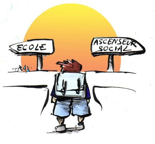 """""""Ecole: inégalités ascenseur social"""