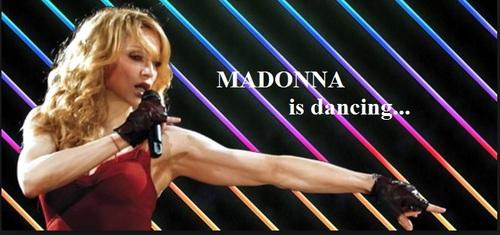 madonna is dancing