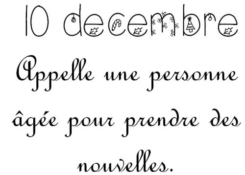 Mardi 10 décembre: Calendrier de l'Avent