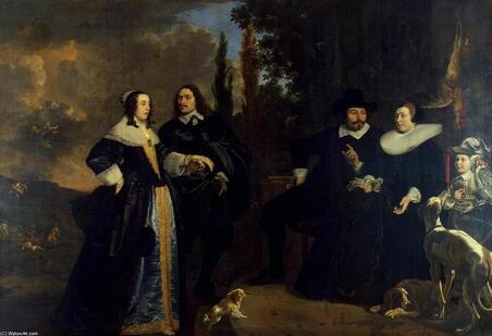 Portrait of a Family, Oil On Canvas by Bartholomeus Van Der Helst (1613-1670, Netherlands)