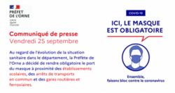 COVID-19 : Communiqué de presse de la préfecture