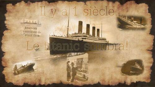 histoire du titanic avec photoshop (date de realisation 2012)