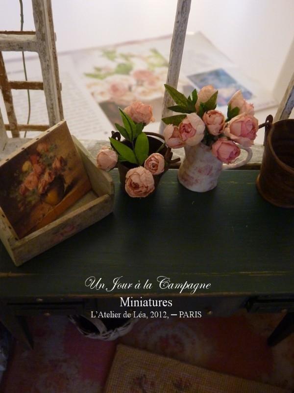 Jardin d'hiver - Pivoines (2) - signé