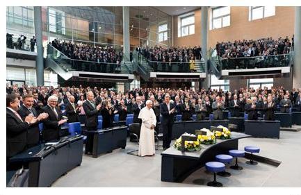 pape parlement Allemagne