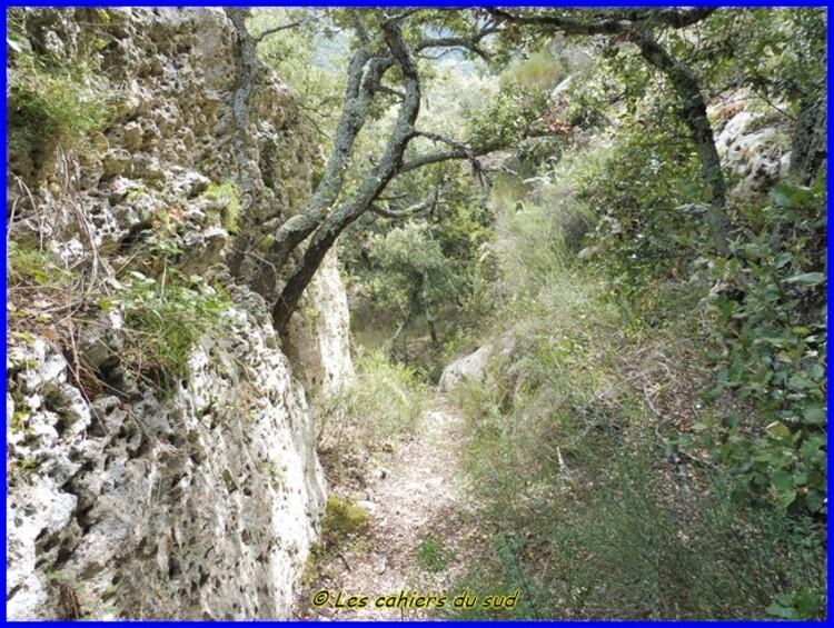 Chantebelle dans les gorges de l'Aiguebrun