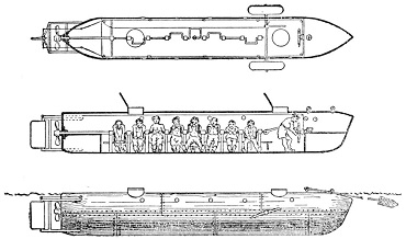 Le sous-marin Hunley ...