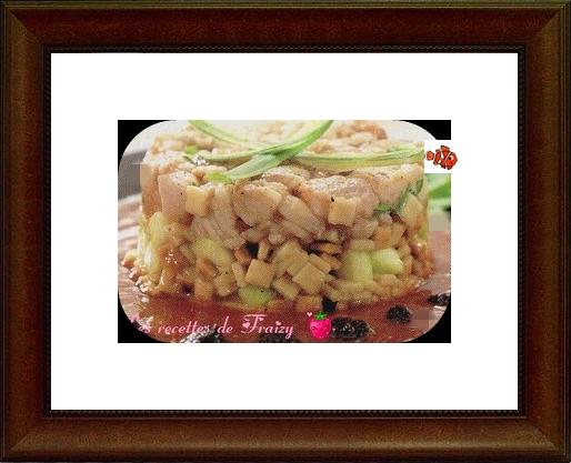tartare de saumon à la salade de pâtes