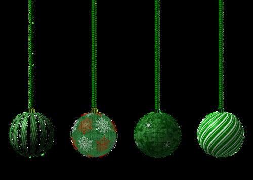 Boules de sapin en vert