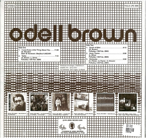"Odell Brown : Album "" Odell Brown "" Paula Records ‎LPS 4005 [ US ]"